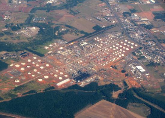 Foto aérea da Replan